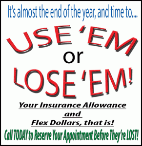 dental insurance and flex dollars run out december 31st