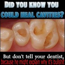 Tooth decay can't be cured