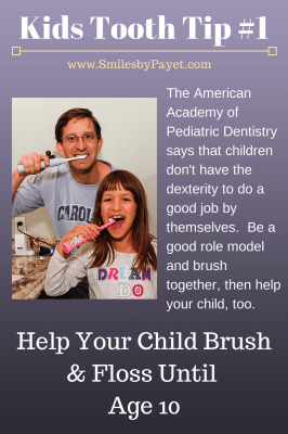 Dr. Charles Payet gives tips on taking care of your children's teeth