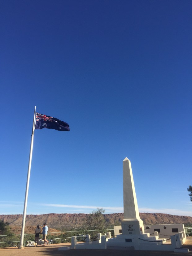 ANZAC Memorial Hill in Alice Springs