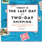 Last Day for Two-Day Shipping Kate Spade email