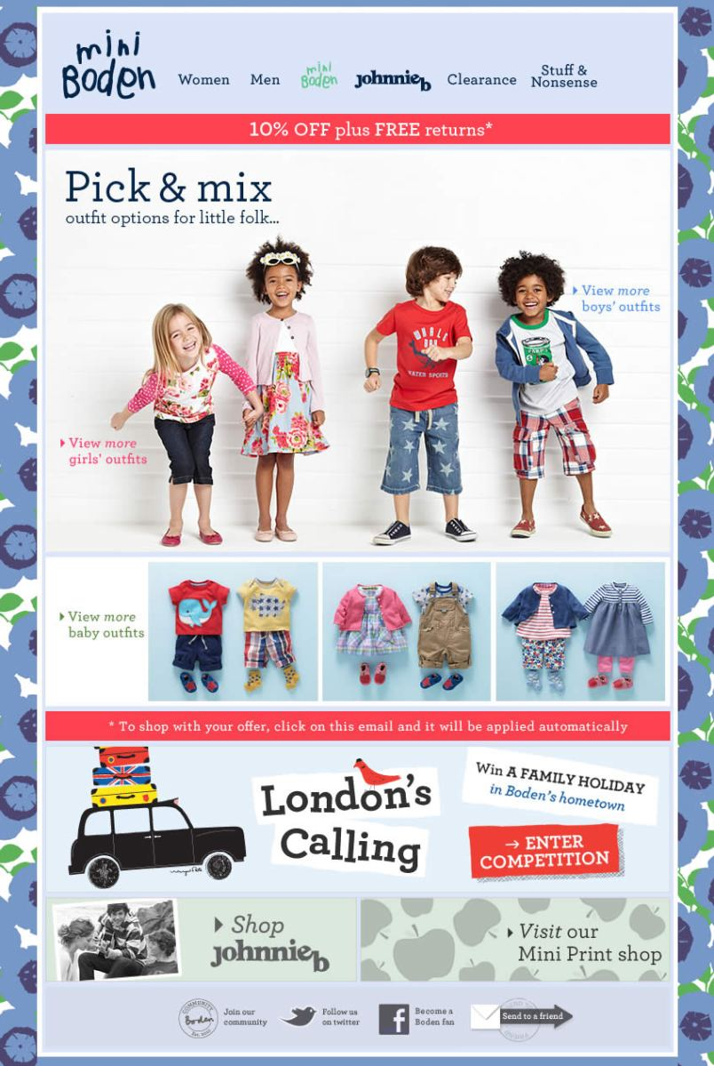 Pick & Mix Boden email