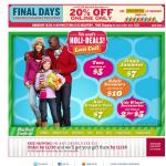 Old Navy email design: Holi Deals