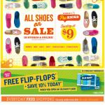 Old Navy email design: Shoes On Sale