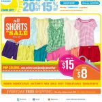 Old Navy email design: Shorts On Sale