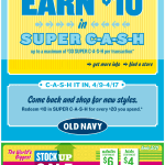 Old Navy email design: Super Cash