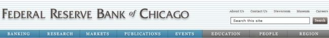 Chicago federal reserve bank website navigation