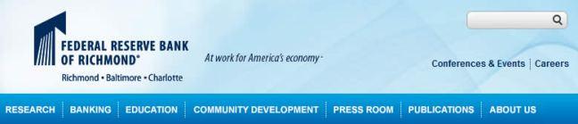Richmond federal reserve bank website navigation