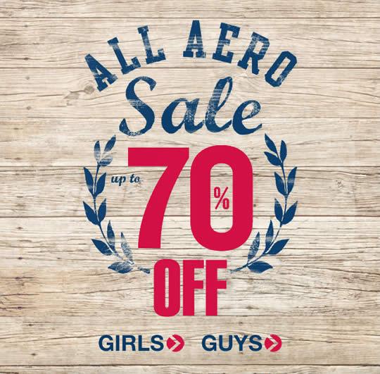 Aeropostale sale email design example