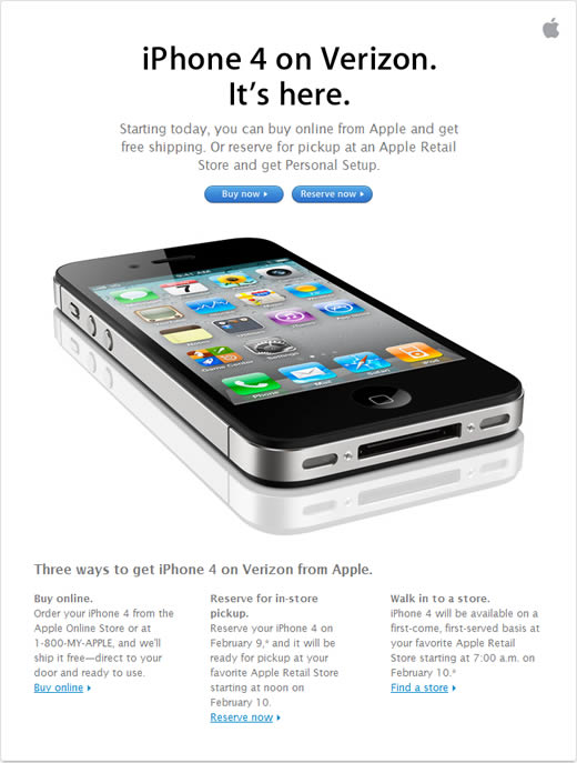 Apple retail email example