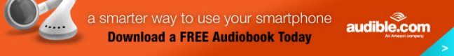 Audible.com banner ad design example