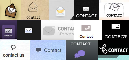 Examples of Contact Us navigation icons
