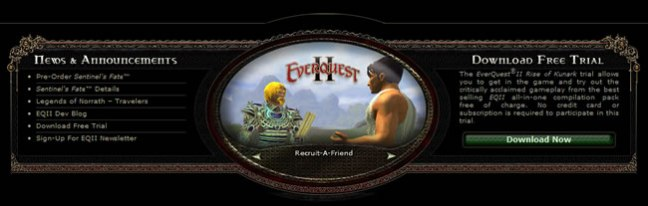 EverQuest 2 website footer design example