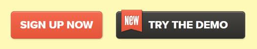 The Hello Bar web button design example