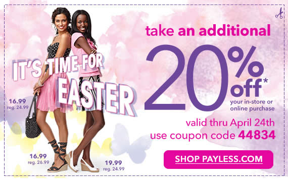 Payless online coupon design example