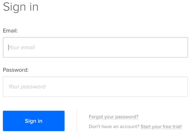 UXPin login form design example
