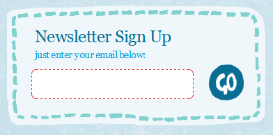 Chirp email signup form design example