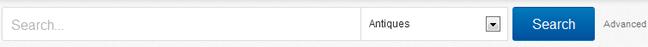 eBay search box design example