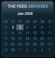 G4 - The Feed calendar design example