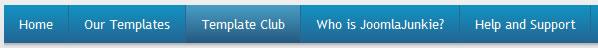 Joomla Junkie website navigation design example