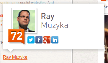 Klout tooltip design example