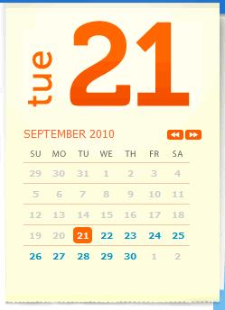 Naples.com calendar design example