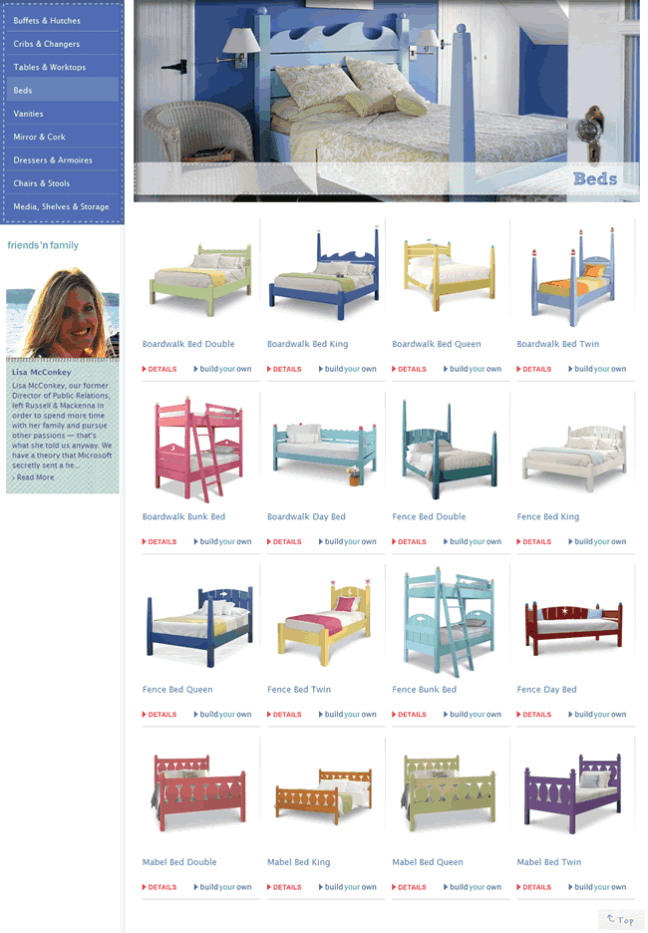 russell & mackenna ecommerce gallery page design example