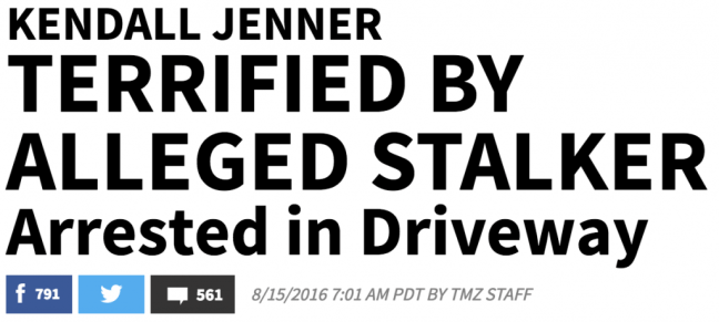 TMZ headline typography example