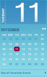 Tennessee Winter calendar design example