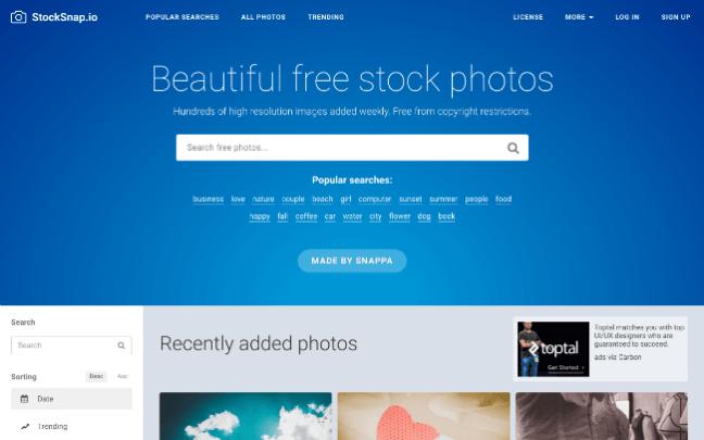 StockSnap.io free stock photo website