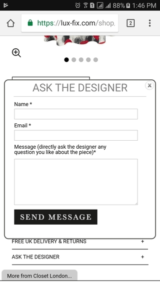 Lux Fix ask the designer on mobile PDP