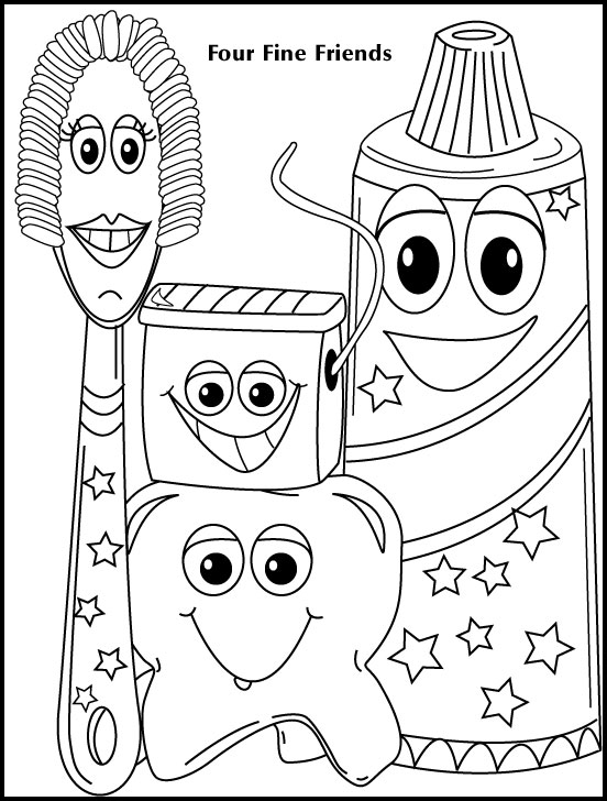 Pediatric Dentistry Coloring Charts San Mateo CA