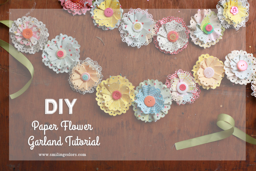 Paper flower garland idea that you can easily decorate your home with springflowers mightylinksfo