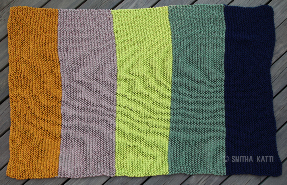 The HandKnit Color Blocked Afghan - Smitha Katti