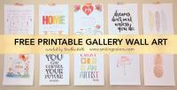 Printable gallery wall art that will make your room look ...