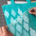 How to stencil on fabric with acrylic paints