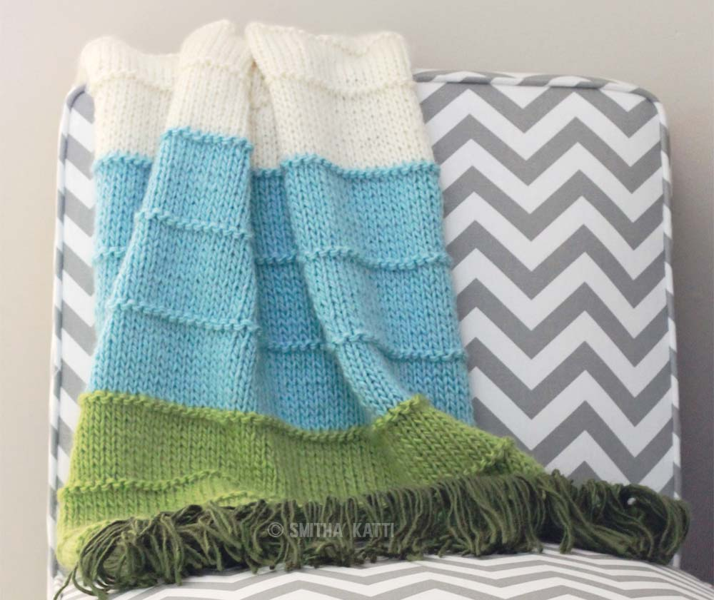Knit Multi Colored Blanket Smitha Katti