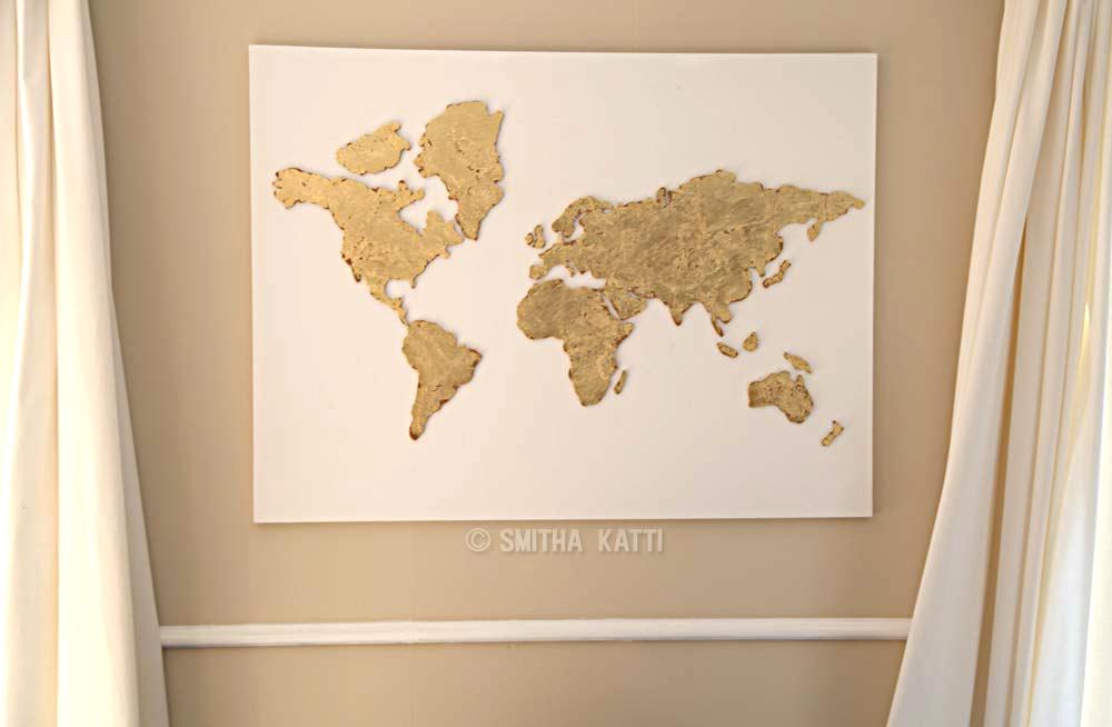... Diy World Map Wall Art Tutorial