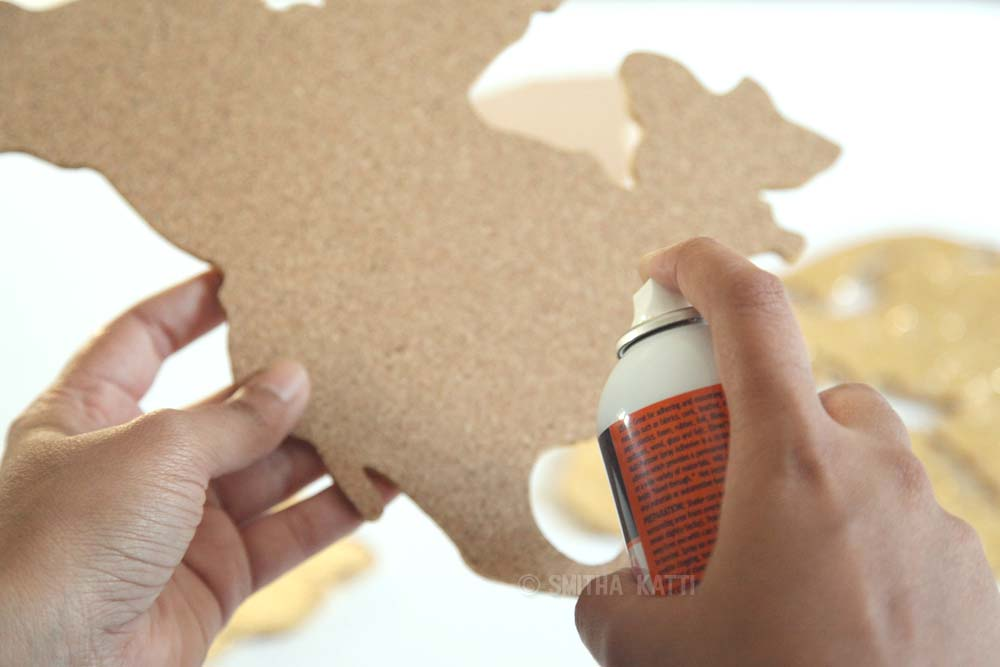 Diy world map wall art that is easy to make and unique smitha katti diy world map wall art gumiabroncs Gallery
