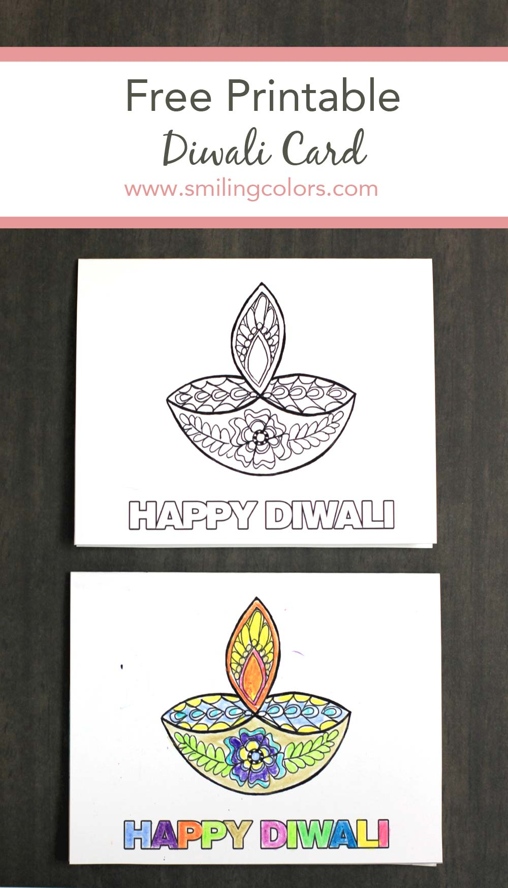 Free Printable Happy Diwali Card Print At Home And Gift Immediately
