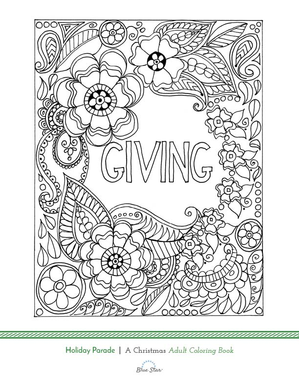 Free printable Holiday Coloring page