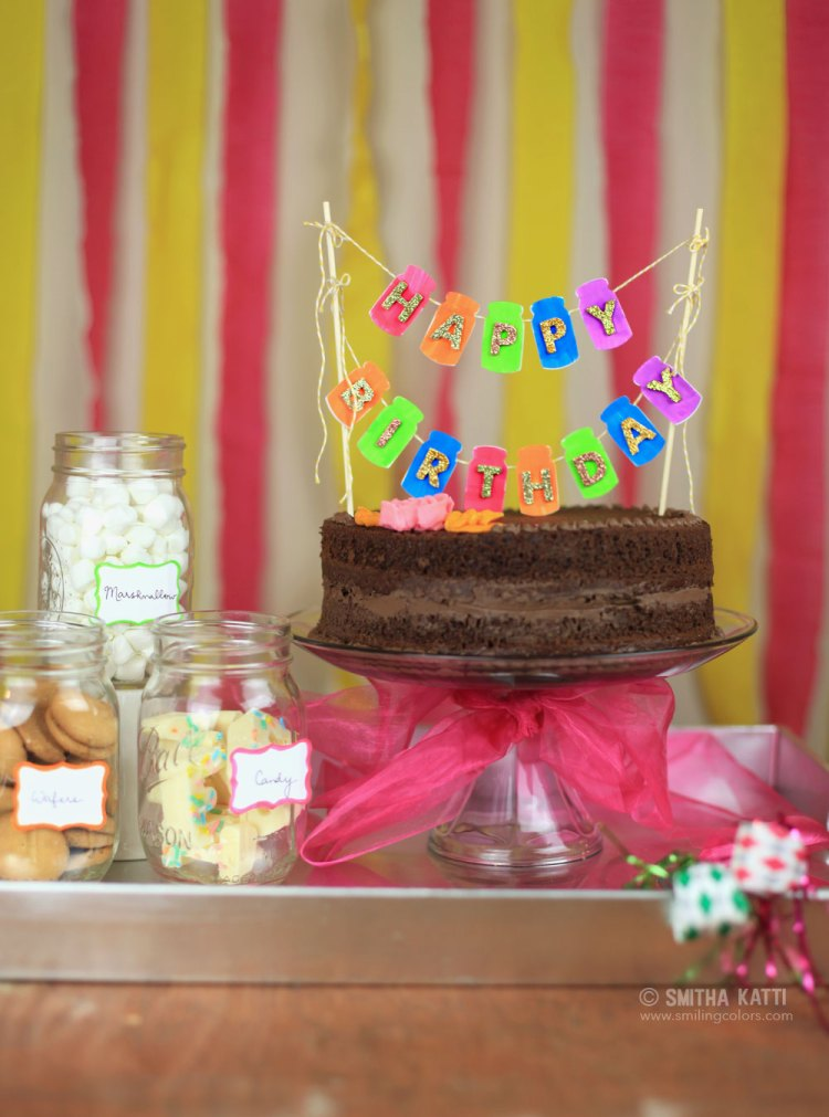 DIY cake Banner easy no sew