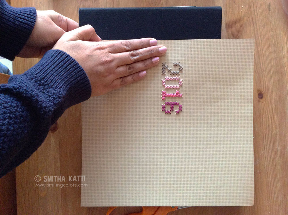 My 2016 Scrapbook Album Stitching On Paper Smitha Katti