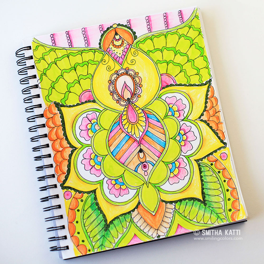 Coloring with Tombows