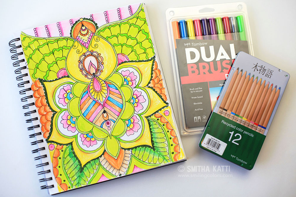 Coloring with Tombows: Colored Pencils and Dual Brush pens