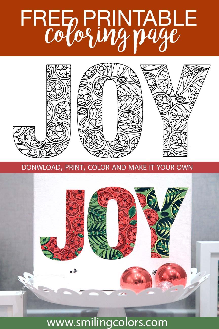 Free Holiday Coloring Sheet Download - Smitha Katti