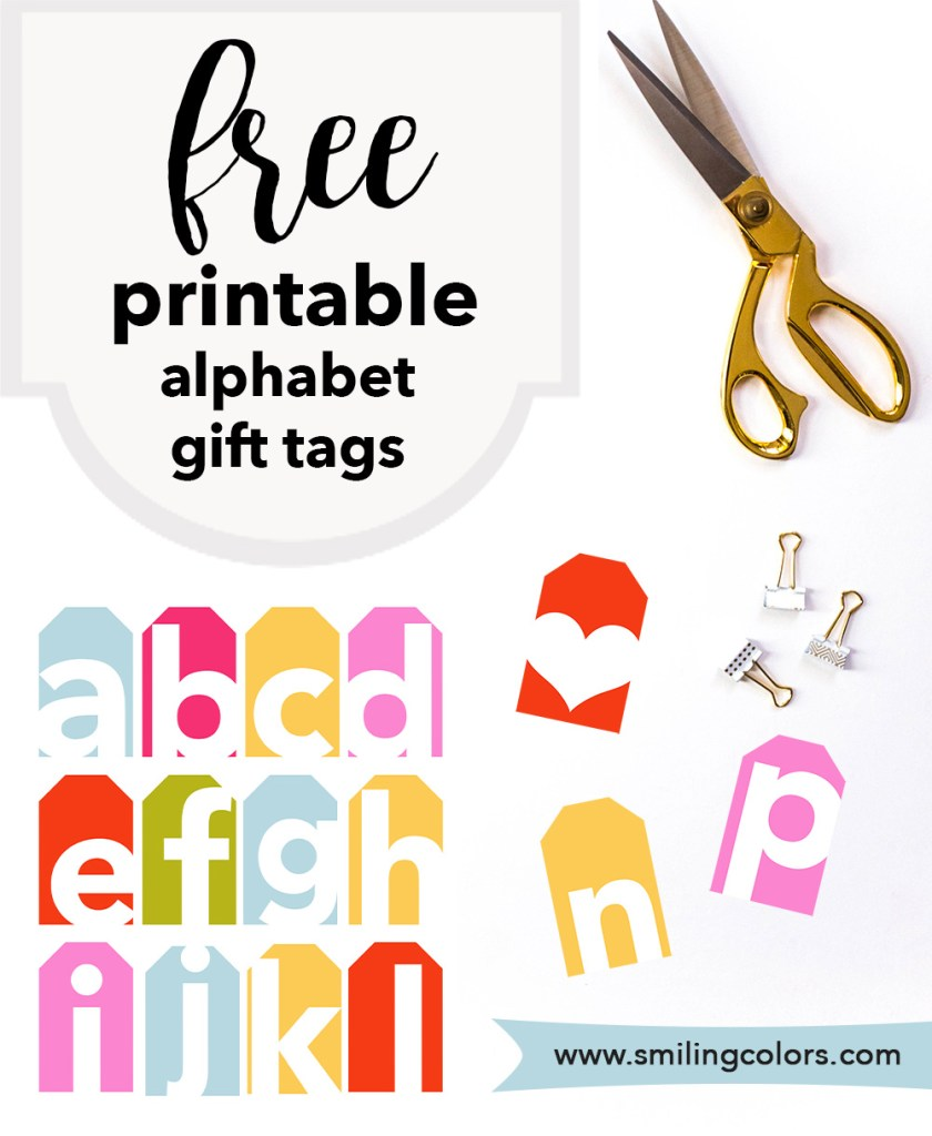free printable alphabet gift tags