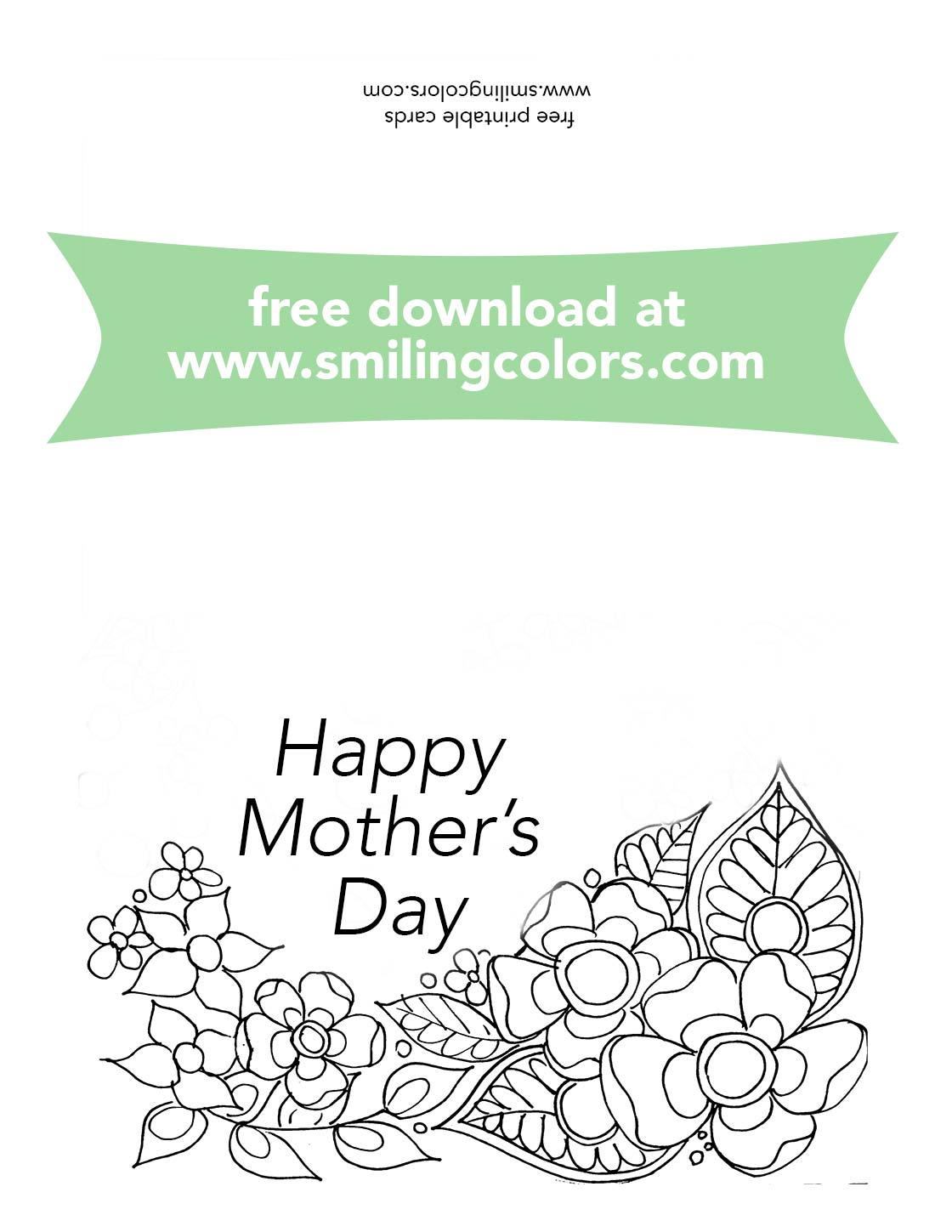 image regarding Printable Cards to Color called Moms working day coloring playing cards, Free of charge towards print and colour at present