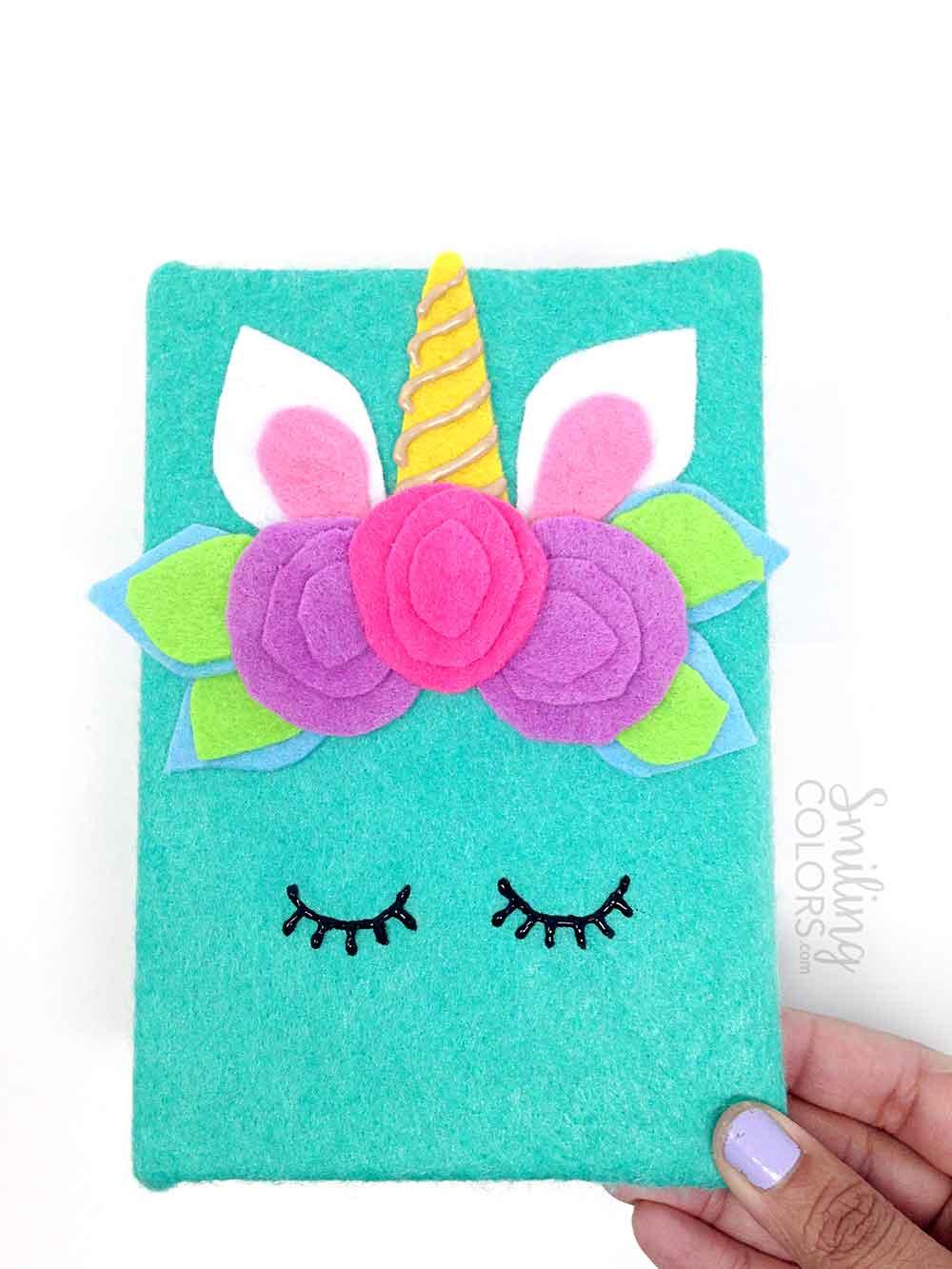 Unicorn Notebook Tutorial An Easy Beginner Felt And Glue Craft