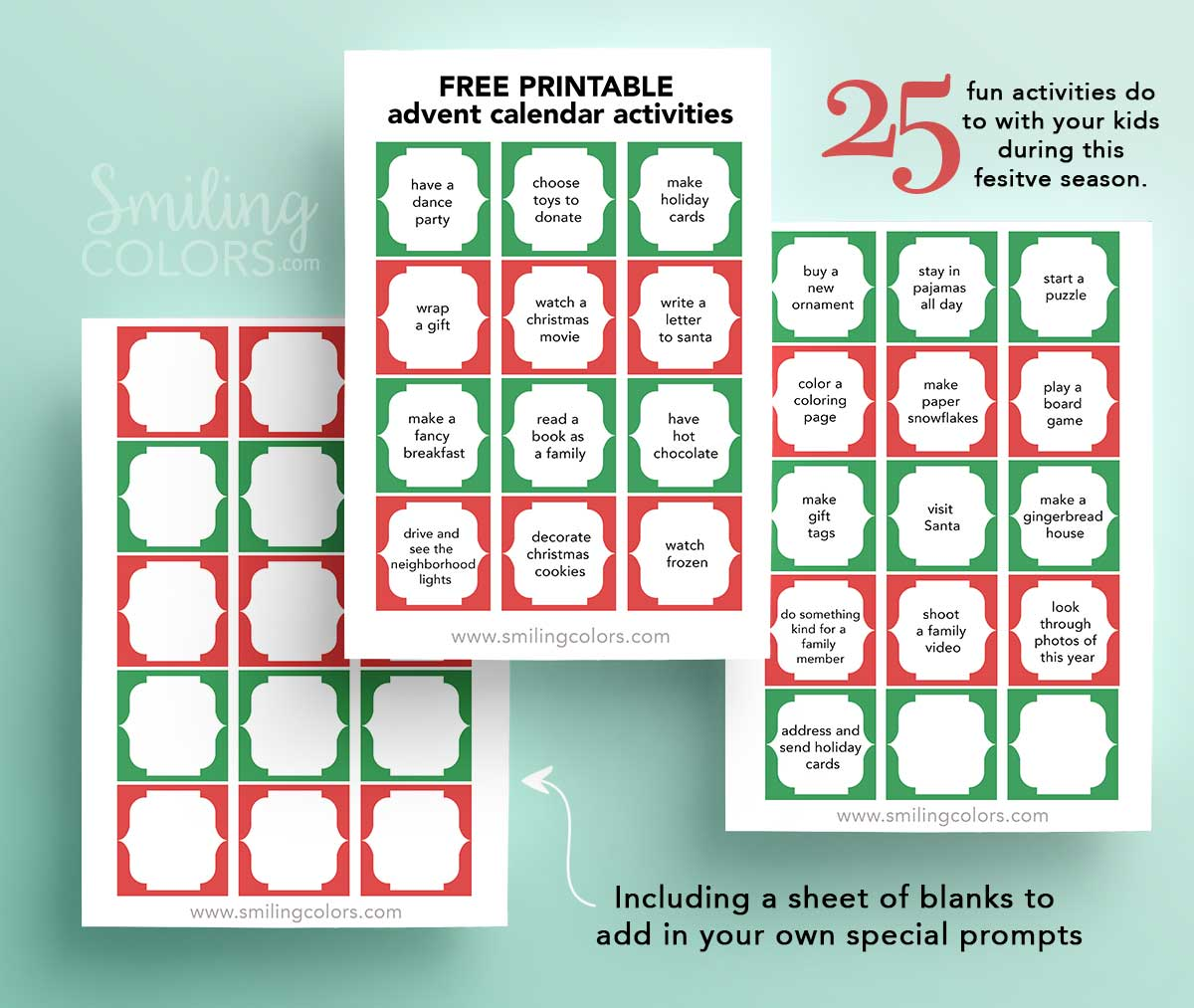 image about Printable Christmas Calendar named Totally free printable introduction calendar functions - Smitha Katti